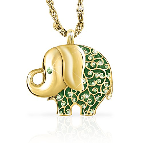 'Fortune's Smile' Diamond Elephant Pendant