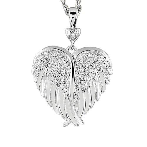 Protettive Ali Celesti - medaglione con diamante