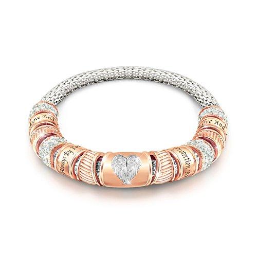 'Guardian Angel Embrace' Copper Touch Beaded Bracelet