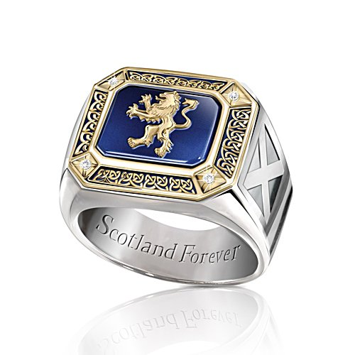 'Spirit Of Scotland' Patriotic Diamond Men's Ring