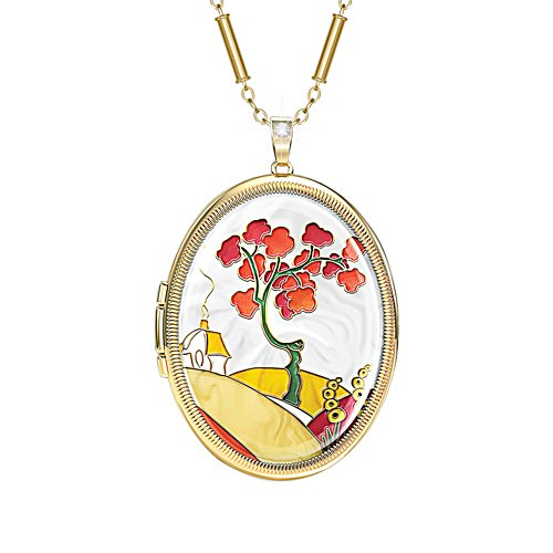 'Live Life in Colour' Clarice Cliff-Inspired Art Locket