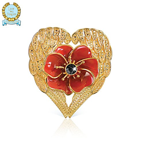 'Loving Embrace' Poppy Brooch