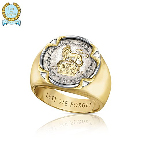 First World War 'King's Shilling' 100 Years Men's Ring