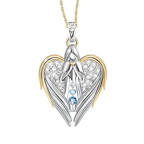 'Guardian Angel Of Love' Diamond And Topaz Pendant