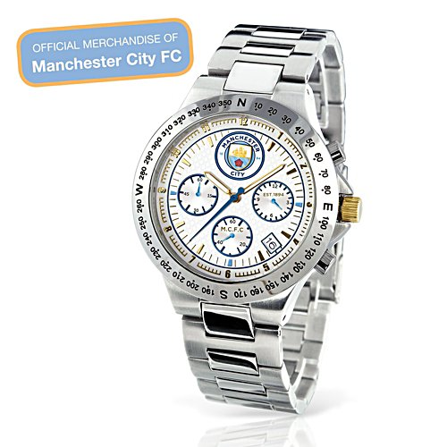 'The Spirit Of Manchester City FC' Men's Chronograph Watch