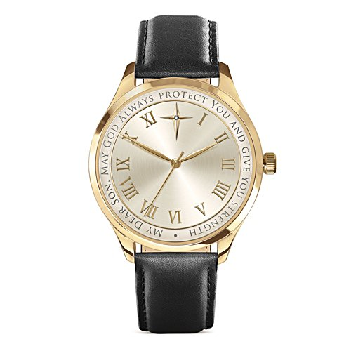 'Protection And Strength For My Son' Men's Diamond Watch