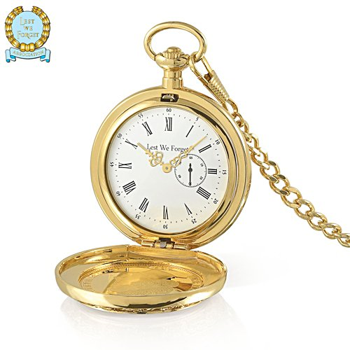 100th Anniversary WWI Limited Edition Coin-Inlaid Pocket Watch
