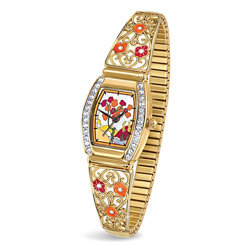 Clarice Cliff-Inspired Art-Deco Ladies' Watch