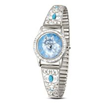 'Spirit Of The Wilderness' Wolf Ladies' Stretch Watch