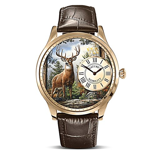 Joseph Hautman 'Nature's Nobility' Men's Gold-Plated Watch