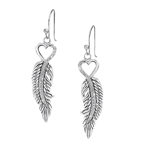 'When Angels Are Near' Diamond Earrings