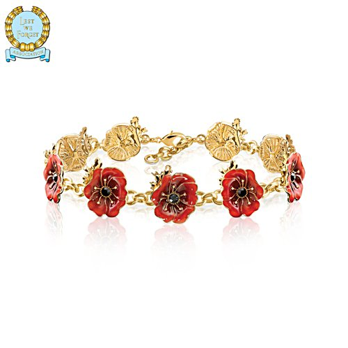 'In Flanders Fields' Enamel Poppy Bracelet