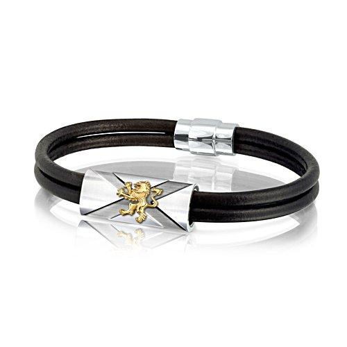 'Scotland Forever' Men's Leather Wristband