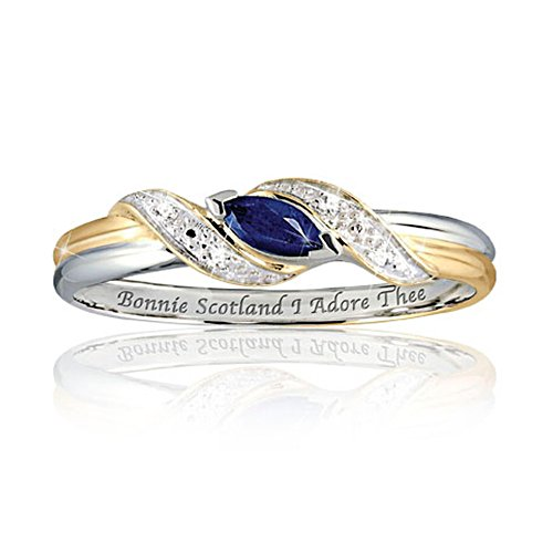 'Bonnie Scotland, I Adore Thee' Diamond & Sapphire Ring