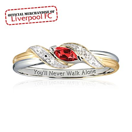 officially licensed liverpool fc las ruby ring the - Pics Of Wedding Rings