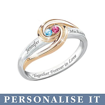 'Together Forever In Love' Personalised Ring