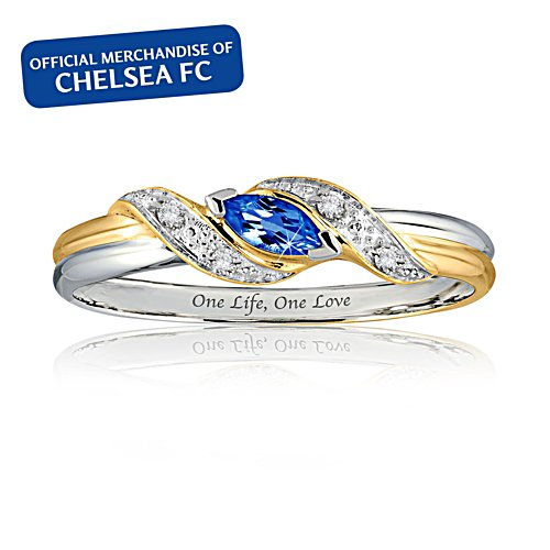 Chelsea FC 'One Life, One Love' Champions 2018 Ladies' Ring