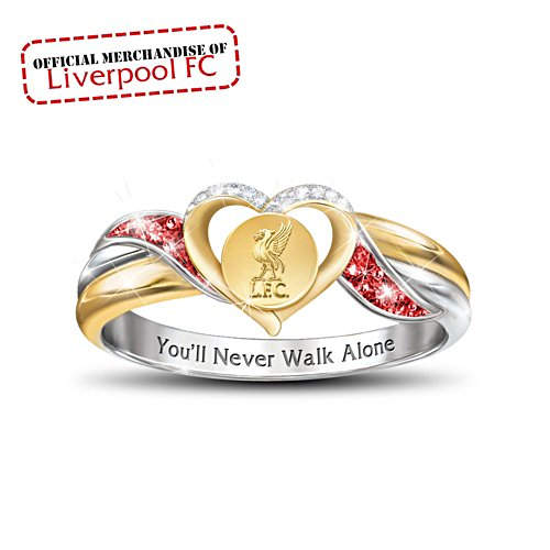 Liverpool FC 'You'll Never Walk Alone' Ladies' Crystal Ring