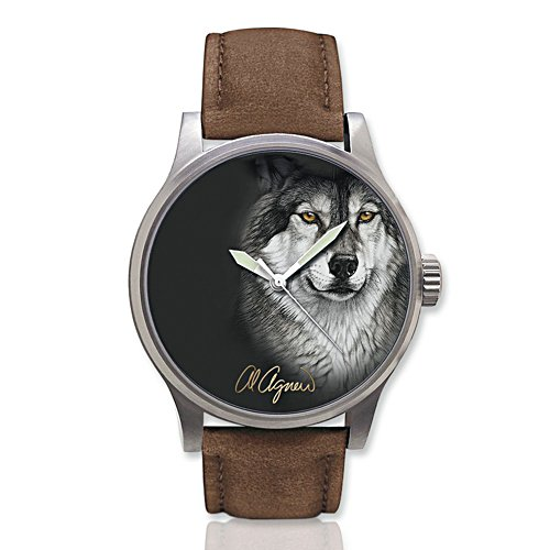 Al Agnew 'Eyes Of The Night' Wolf Men's Watch