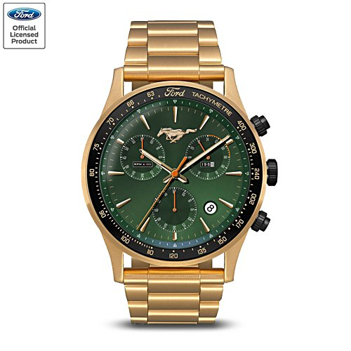 'Ford Mustang Fastback GT 390' Men's Chronograph Watch