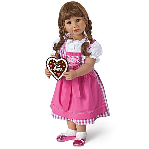 'Leni – My Heart For You' Dirndl Brunette Child Doll