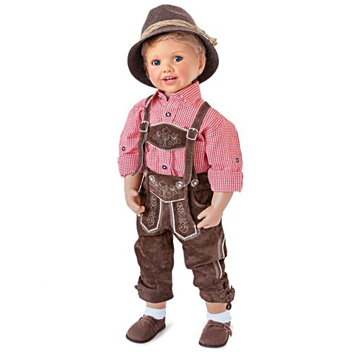 'Luis In Lederhosen' Traditional Doll