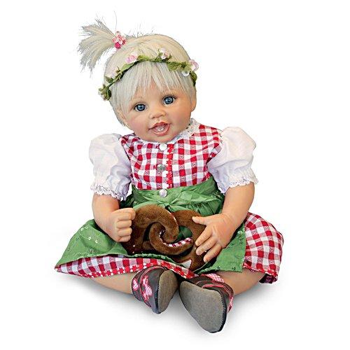'Pretzel Resi' Traditional Dirndl Girl Child Doll