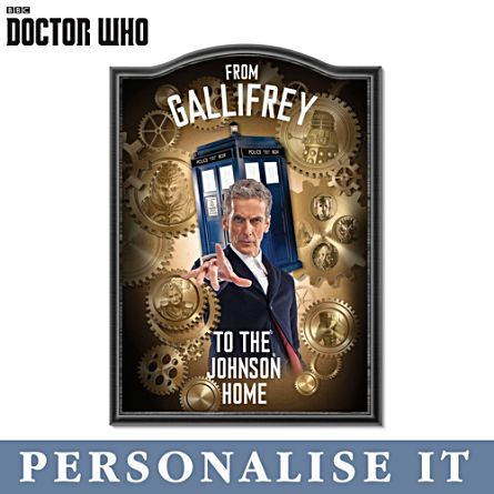 'Doctor Who' Personalised Sign