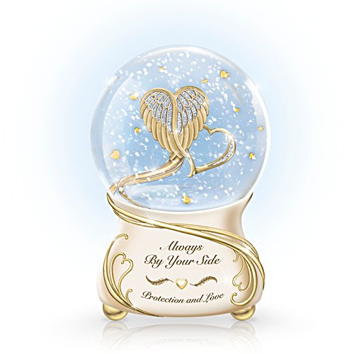 'Always By Your Side' Guardian Angel Glitter Globe
