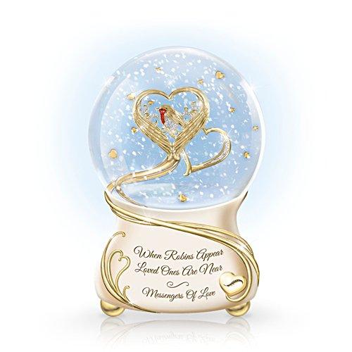 'Messenger Of Love' Robin Glitter Globe