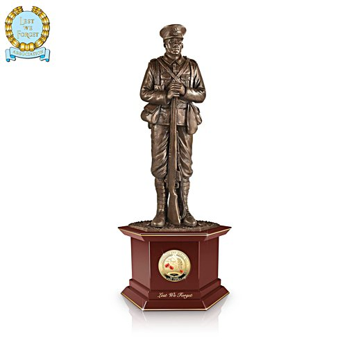 'Lest We Forget' First World War Armistice Centenary Coin Sculpture