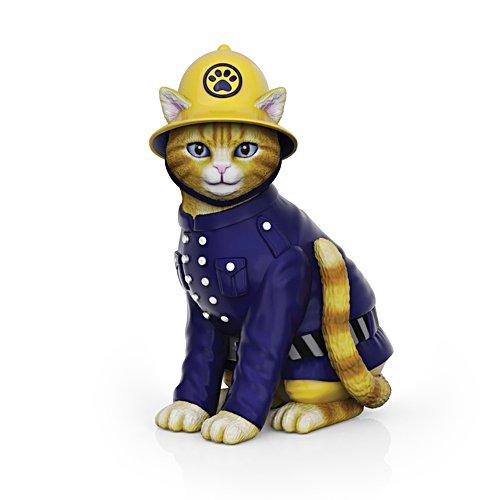 'Su-purr Hero' Fire Brigade Cat Figurine
