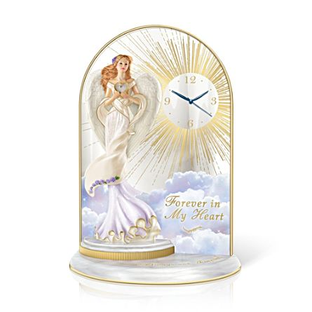 'Always And Forever' Angel Figurine Mirror Clock