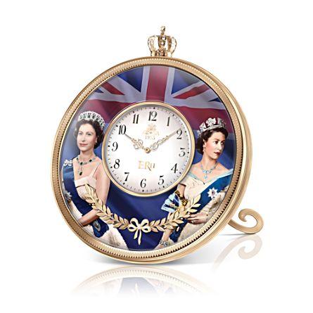 Queen Elizabeth II 65th Anniversary Coronation Table Clock