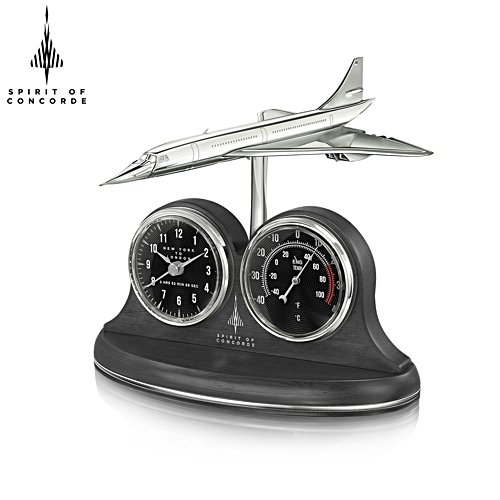'Spirit Of Concorde' Masterpiece Clock & Thermometer