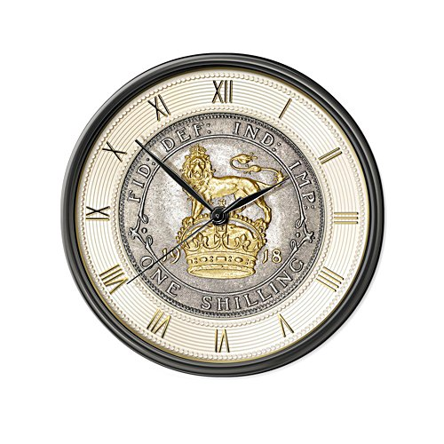 King's Shilling Wall Clock