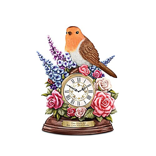 'Time Heals All, But Love Never Fades' Table Clock