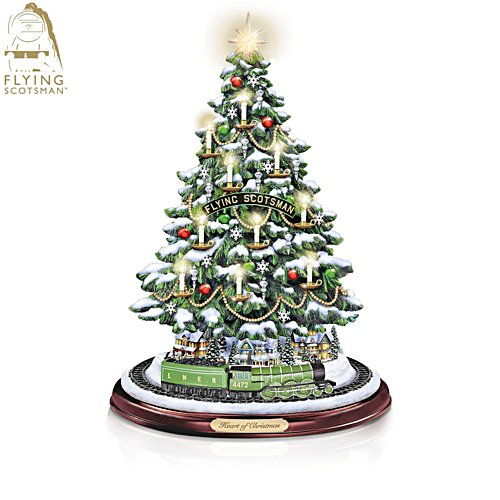 Flying Scotsman 'Heart Of Christmas' Tabletop Candlelight Tree