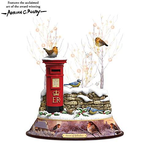 'Season Of Splendour' Illuminated Musical Songbird Centrepiece