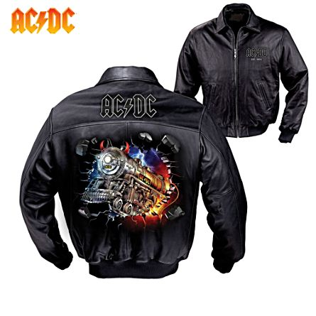 'For Those About To Rock' AC/DC Leather Men's Jacket