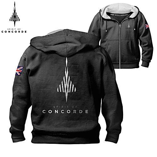 'The Spirit Of Concorde' Men's Hooded Jacket