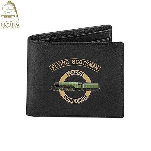 Flying Scotsman 'Legend Of Steam' Men's Leather Wallet