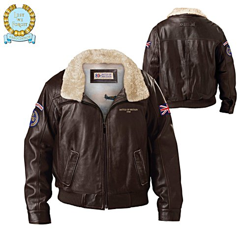 80th Anniversary Battle Of Britain Art Genuine Leather Men's Jacket