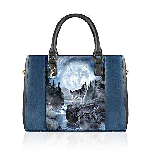 Al Agnew 'Spirit Of The Moon Wolf' Handbag