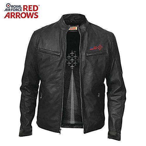 Red Arrows Café-Racer Style Leather Jacket