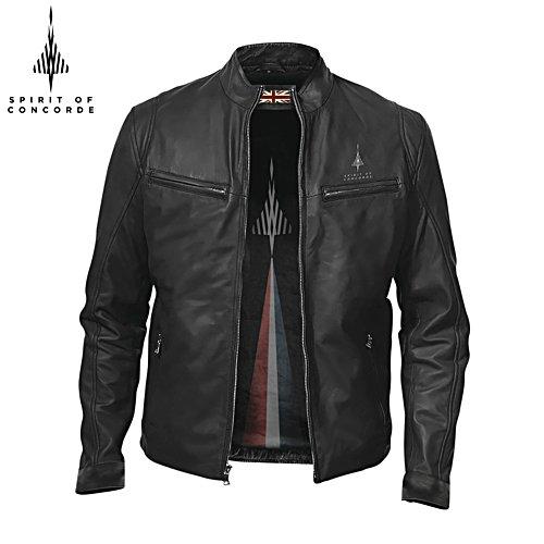 50th Anniversary Spirit Of Concorde Men's Leather Café Racer Jacket