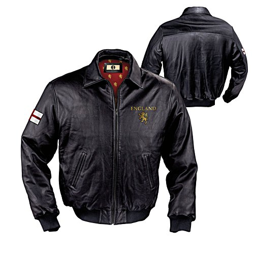 'Spirit Of England' Men's Leather Jacket