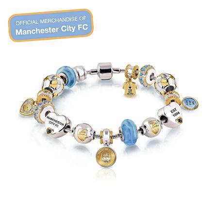 Manchester City #1 Fan Ladies Charm Bracelet