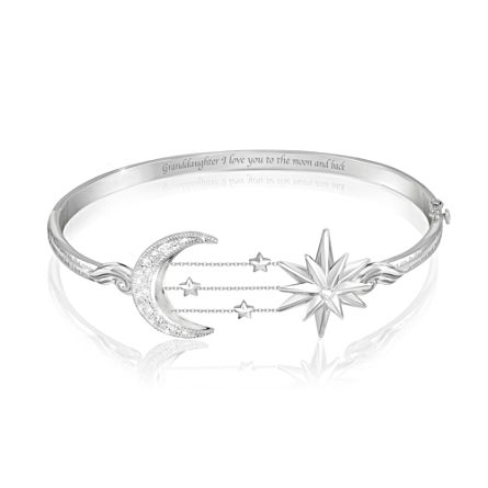 'My Granddaughter, I Love You To The Moon And Back' Bracelet