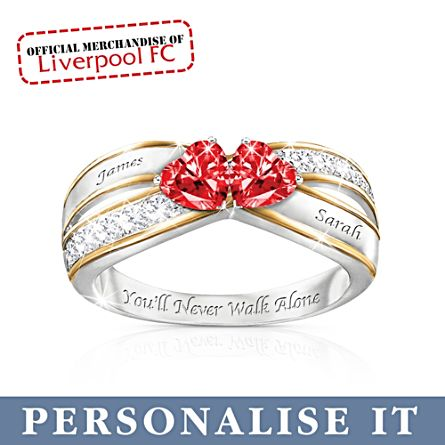 Liverpool FC 'You'll Never Walk Alone' Personalised Ring